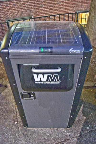 solar trash can